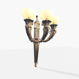 3ds max rafaeltormo wall lamp