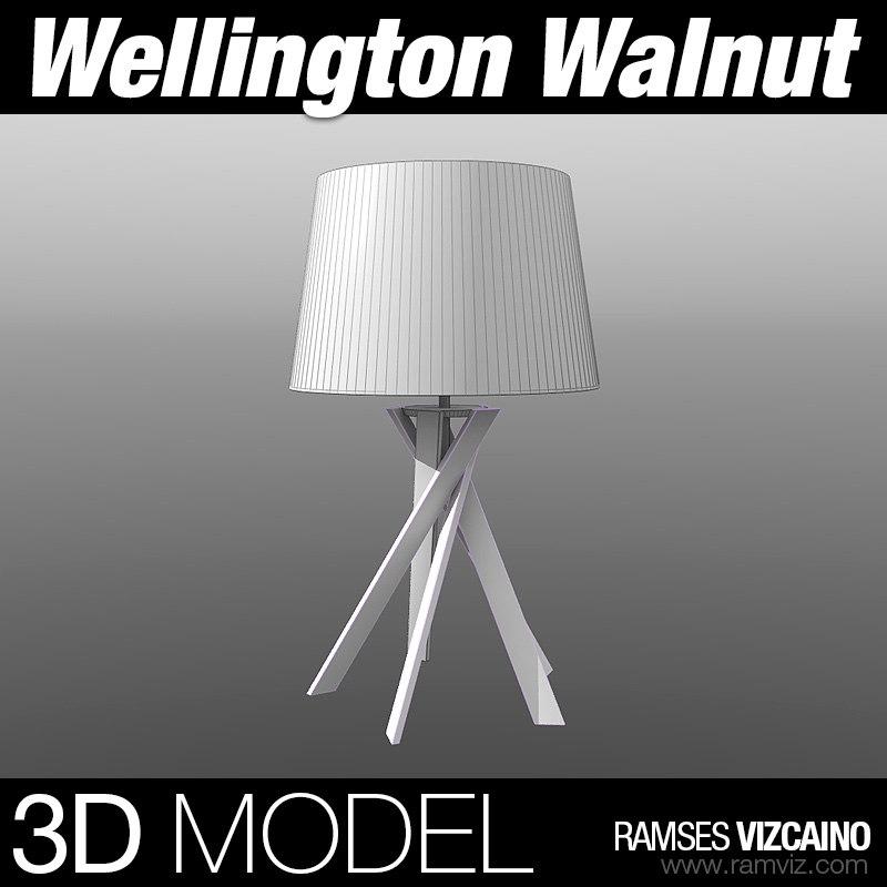 3d wellington walnut model