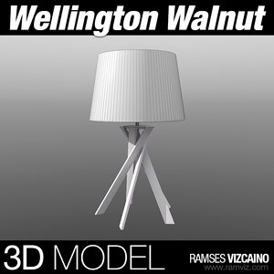 3d wellington walnut model