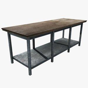 3d workbench work table model