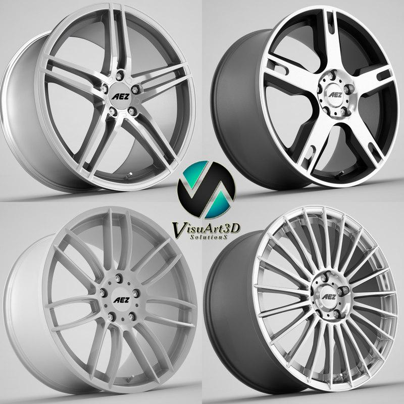 3d model aez wheel rims