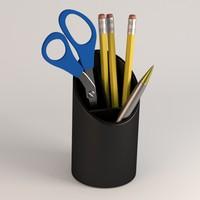 pencil cup 3d 3ds