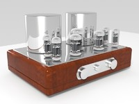 3d model vacuum tube amplifier