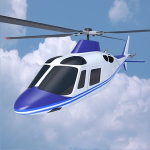 agusta aw109 helicopter 3ds