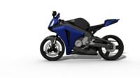 blue cbr1000rr motorbike 3d obj