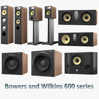 bowers wilkins 600 series 3d model