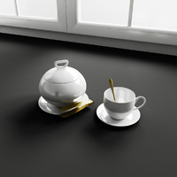 3d kitchen decoration model