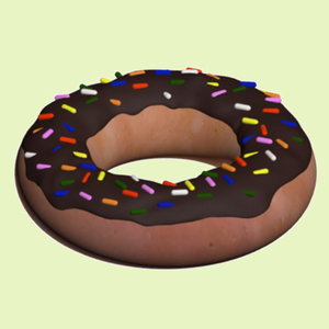 3ds max chocolate donut