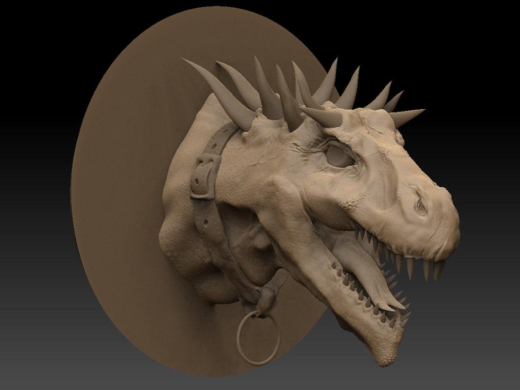 3d zbrush dragon head model
