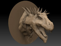 3d zbrush dragon head model