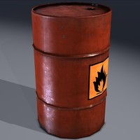 Barrel, explosive, flammable, fuel. Game ready!!