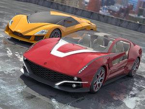 2 giugiaro concept cars 3d max