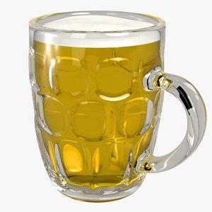 british glasses mugs beer 3d max
