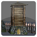 wall tower gates 3d model