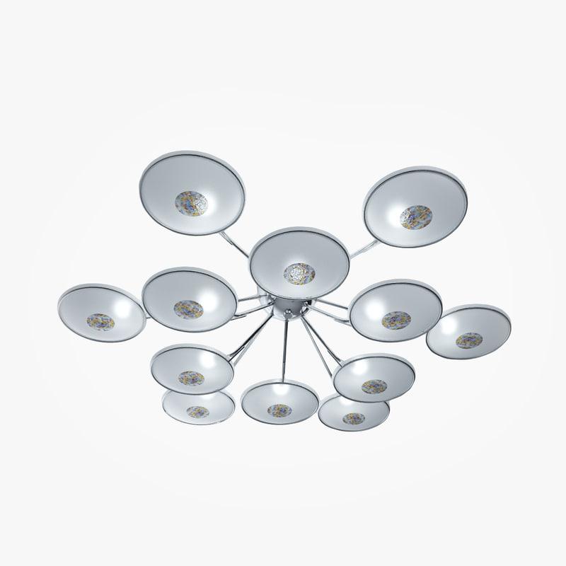 free chandelier la lampada 725 3d model