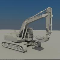 3d max excavator