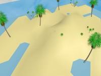 free island palm s 3d model