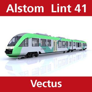 lint passenger train vectus 3d 3ds