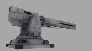 particle gun turret 3d model