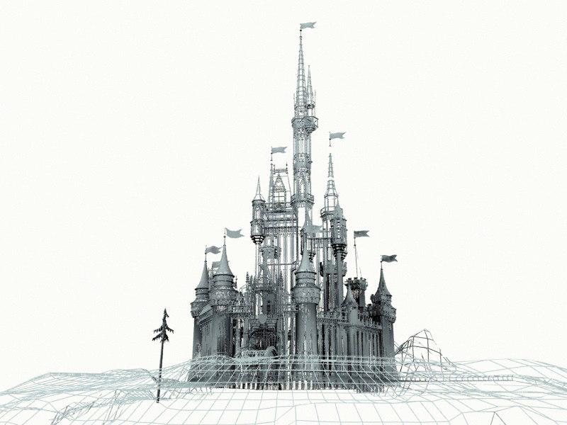 fairytale castle 3d model