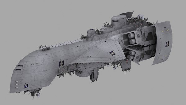 proteus warship cruiser 3d lwo