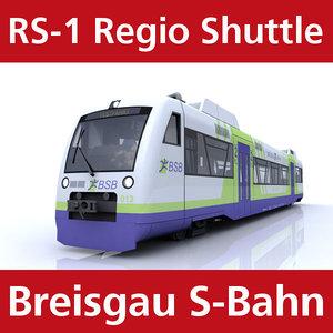 rs-1 regio shuttle passenger train 3d obj