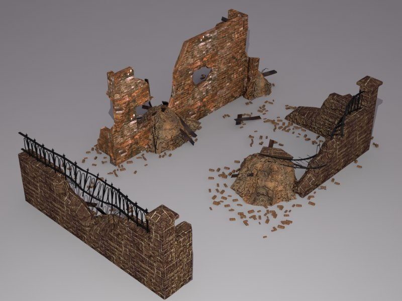 3ds ruins walls