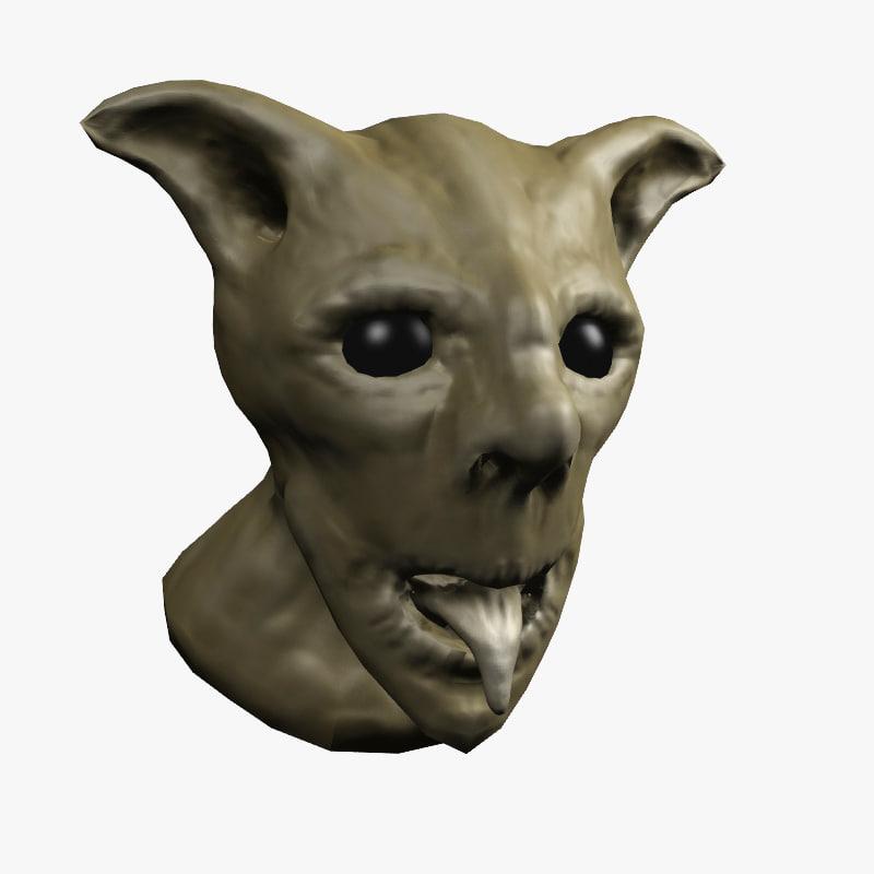 3d demon head