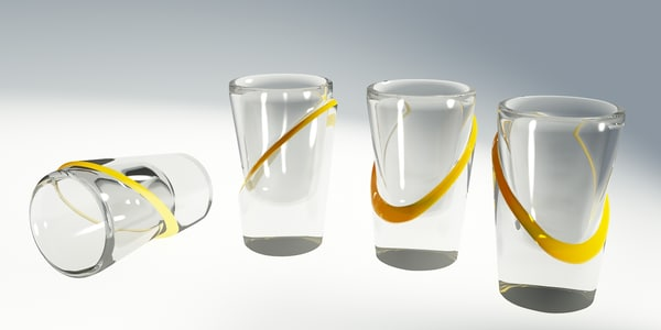 lemon shot glass 3d 3ds