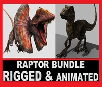 Raptor Bundle RIGGED ANIMATED