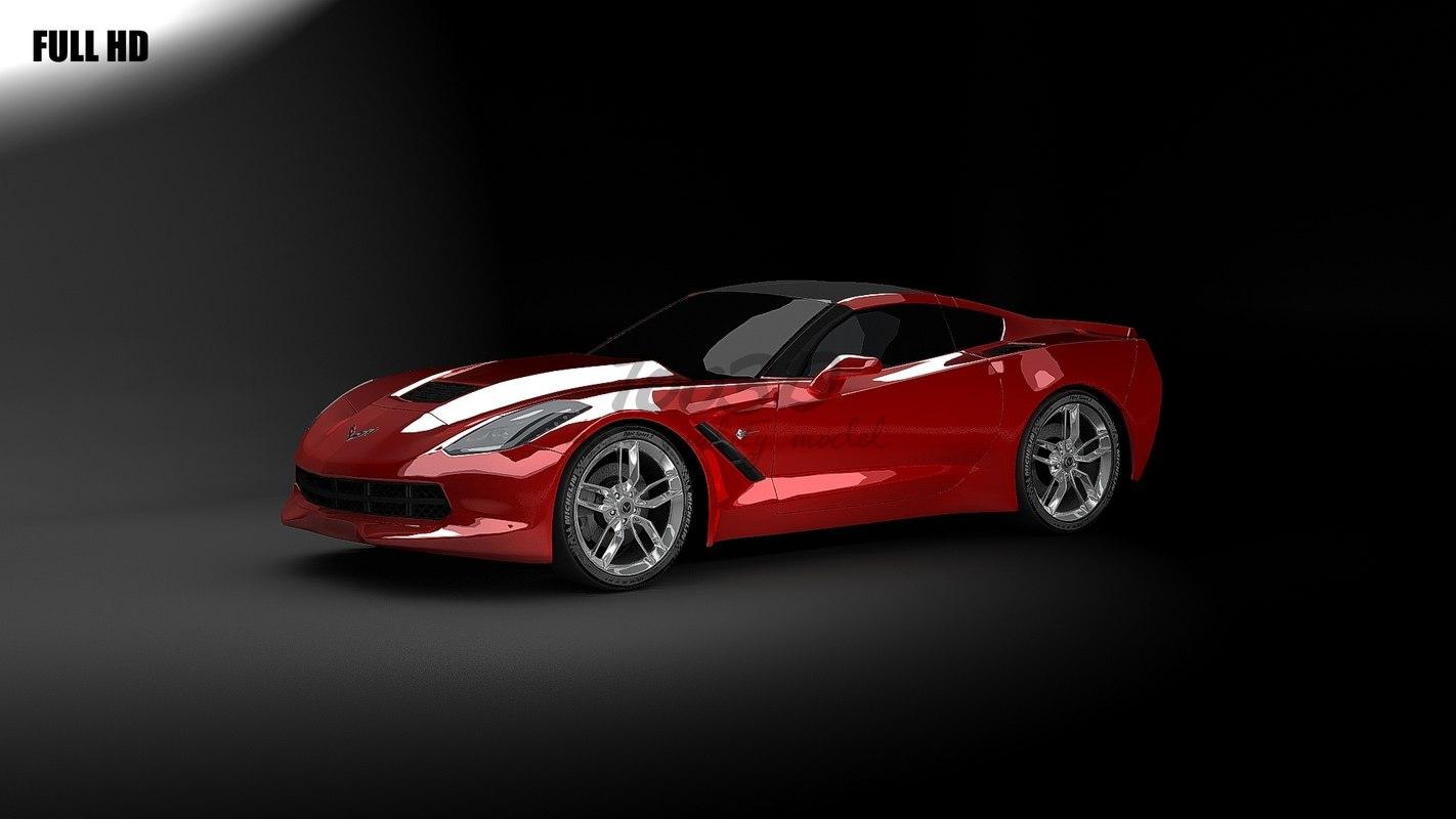 corvette 2014 3d max