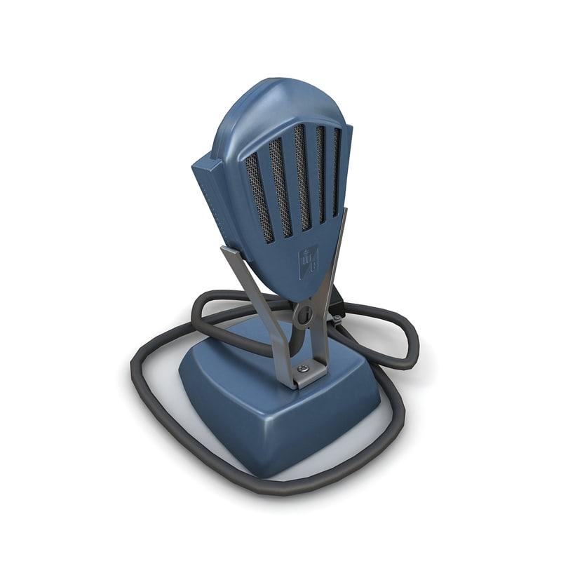 3dsmax vintage microphone 03