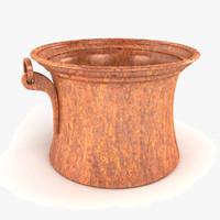 3d vintage planter pot model