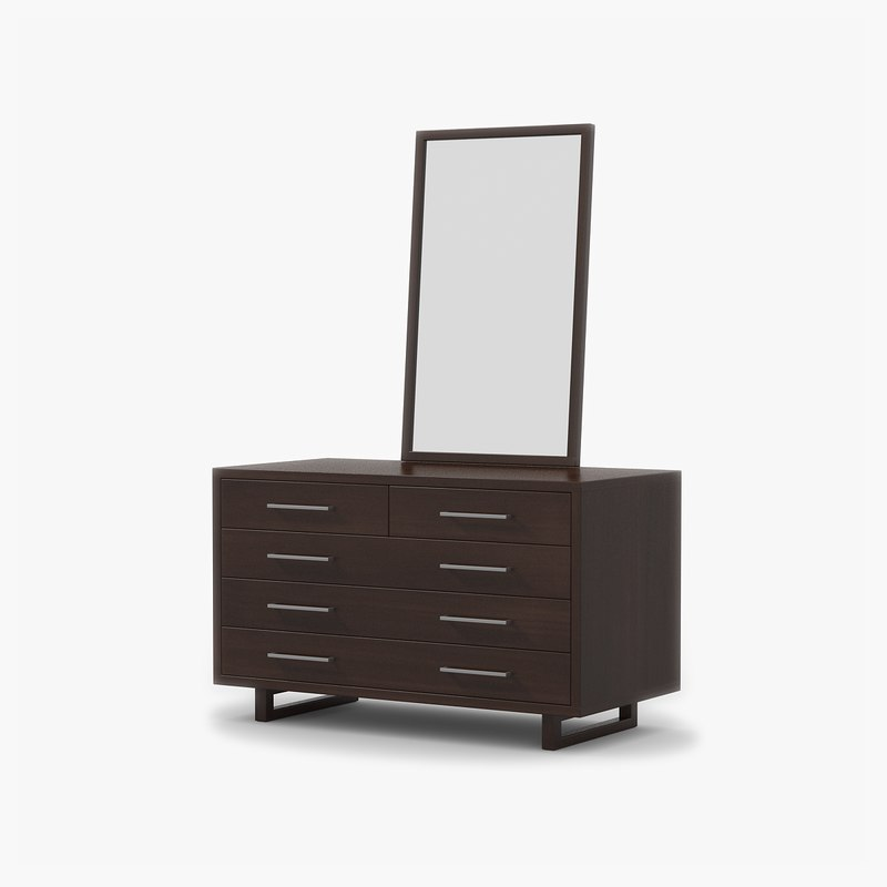 dresser walnut wood 3d max