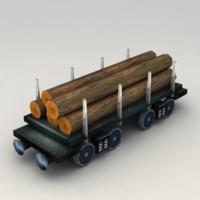 Lowpoly Wood Car