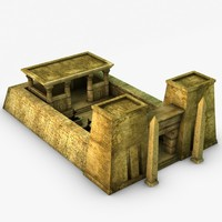 egyptian temple 3d 3ds