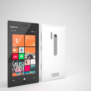 3d model nokia lumia 928 smartphone