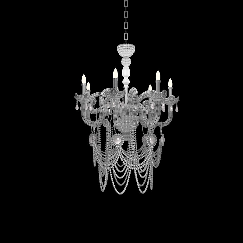 pearl chandelier 3d max