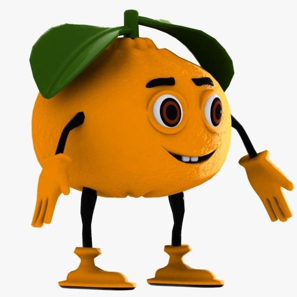 mandarin character 3d max