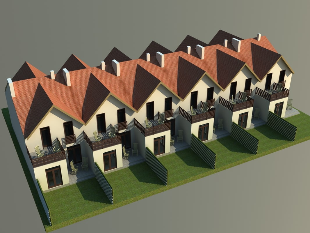 3d modern townhouse