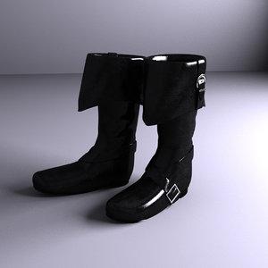 musketeer boots 3d obj