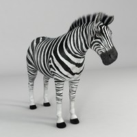 realistical zebra rigged horse 3d 3ds