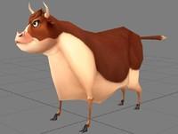 3d model bull cow
