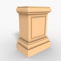 3d interior plinth block model
