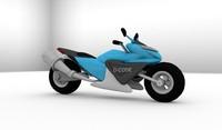 3d racing bike model