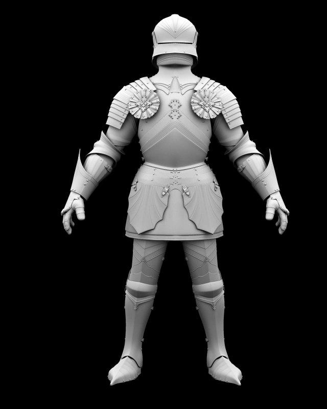 heavy knight armour 3d obj