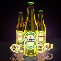 heineken bottle 3d max