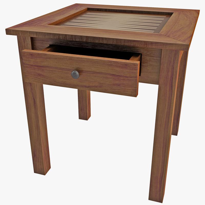 backgammon table 3d c4d