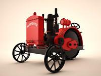 3d soviet tractor model