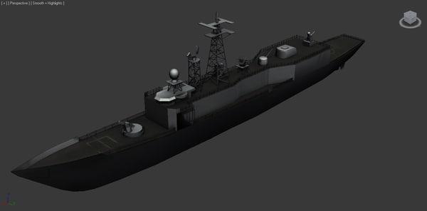 3d 3ds oliver hazard frigate oh